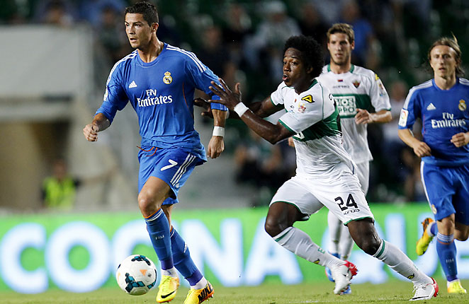 Cristiano Ronaldo scored both of Real Madrid's goals in a hard-fought at Elche on Wednesday.
