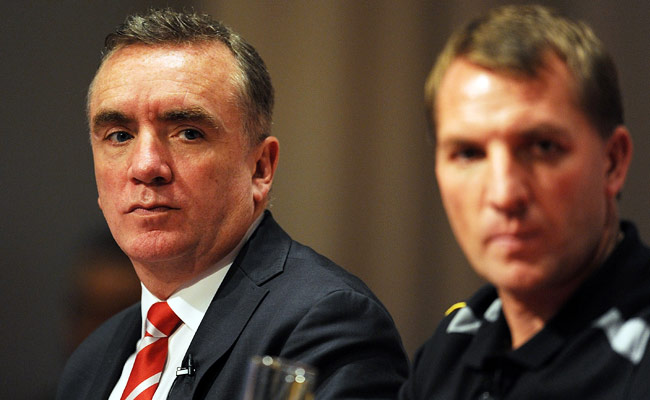 Ian Ayre (left) has been Liverpool's managing director since March 2011.