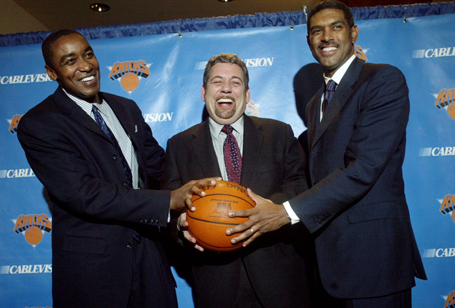 Steve Mills (right) worked for the Knicks for a decade before leaving MSG in 2009.