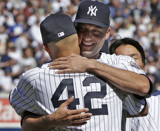 Derek Jeter and Mariano Rivera both debuted with the Yankees in 1995 and have been teammates for 19 seasons.