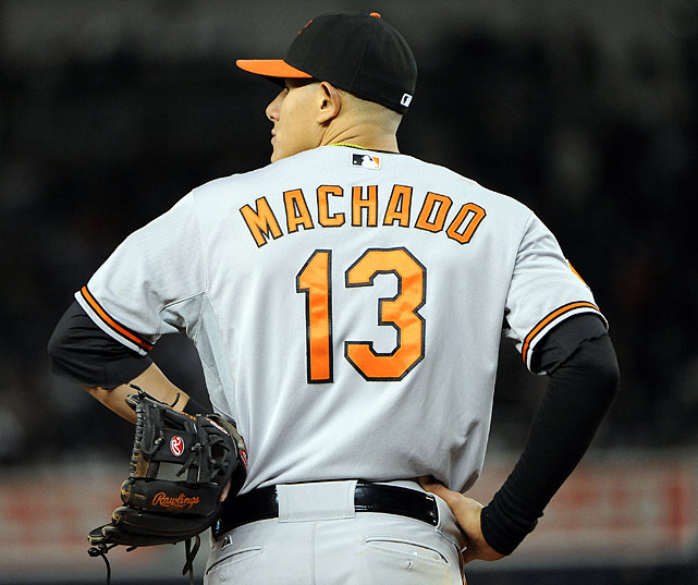 Baltimore Orioles third baseman Manny Machado is batting .239 with seven home runs and 17 RBI.