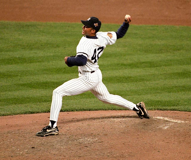 Under new manager Joe Torre, Rivera became entrenched as the Yankees' setup man in front of Wetteland, throwing 107 2/3 innings with a 2.09 ERA while striking out 130. He was so good that season that he placed third in the AL Cy Young voting behind the Blue Jays' Pat Hentgen and teammate Andy Pettitte. In the postseason, Rivera threw more than one inning in seven of his eight appearances. The last came in Game 6 of the World Series against the Braves. Starter Jimmy Key wobbled through 5 1/3 innings and left with a 3-1 lead that David Weathers and Graeme Lloyd protected by each collecting an out in the sixth, leaving New York nine outs away from its first championship since 1978.