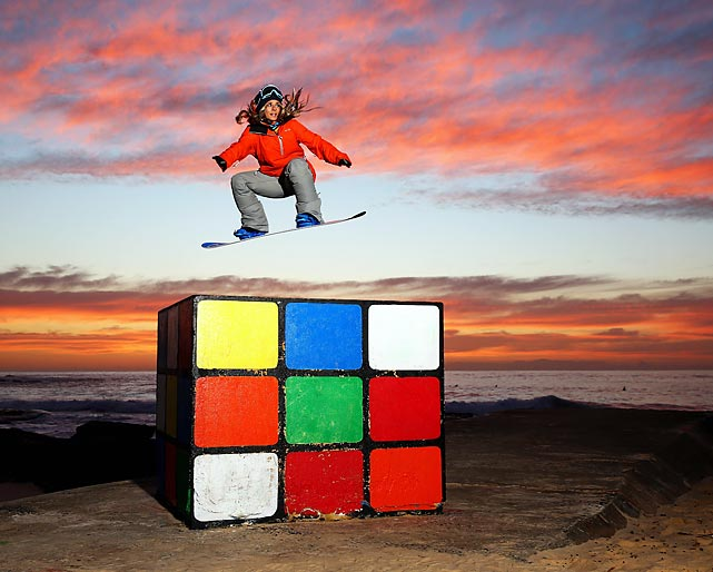 The Australian snowboarder gleams the Rubik's cube in Sydney where he's fixing to qualify for the Australian Olympic Team in half-pipe and compete at the Sochi Winter Games. He don't know if there'll be snow, but he'll have a cup of cheer.