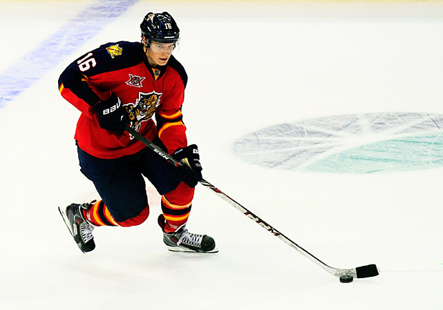 "Shoulder surgery in April derailed his training regimen, but Florida sources insist the second overall pick will be 100 percent for the regular season. No one expects him to dominate men as he did in the Finnish league, but at 6'-3"", 209 pounds, he has the size and strength to assert his presence down low and give the Cats a much-needed offensive option."