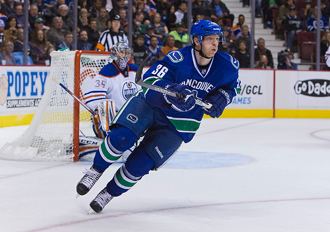 Jannik Hansen finished with a plus/minus rating of 12 last season for the Canucks.