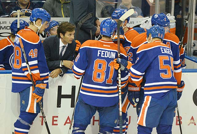 Eakins, 46, was the hottest name when it came to coaching vacancies during the off-season, and with good reason. He succeeded in the AHL as coach of the Toronto Marlies, the Maple Leafs' AHL squad, in a serious hockey market, and his hard-nosed, results-driven style is perfect for the Oilers' slew of young, charismatic talent. There are high expectations that team will finally blossom and return Edmonton to the playoffs for the first time since its Cup run in 2006. Eakins is a big piece of that puzzle.