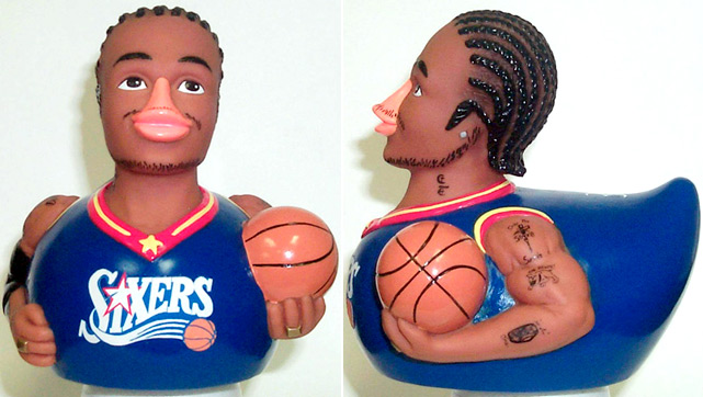 CelebriDucks is an American company that manufactures rubber ducks featuring celebrity likenesses. Notable athlete-based Celebriducks include Allen Iverson, Sammy Sosa and Moisés Alou.