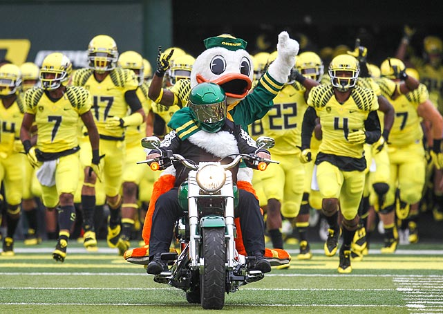 Thanks to their uniforms and up-tempo offense, the Oregon football team is one of the flashiest in Division I. Lately, the Ducks have been able to back up their style with substance, winning Pac-10 (later Pac-12) championships in 2009, 2010 and 2011 and appearing in four consecutive BCS bowl games, including a loss in the 2011 BCS National Championship game.