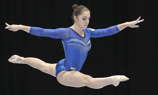 Aliya Mustafina got Russia's first gold at the gymnastics World Championships
