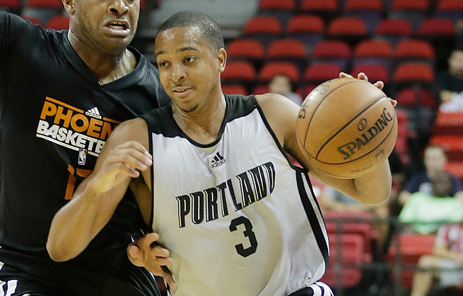 C.J. McCollum will miss a significant amount of time after having surgery for a broken left foot.