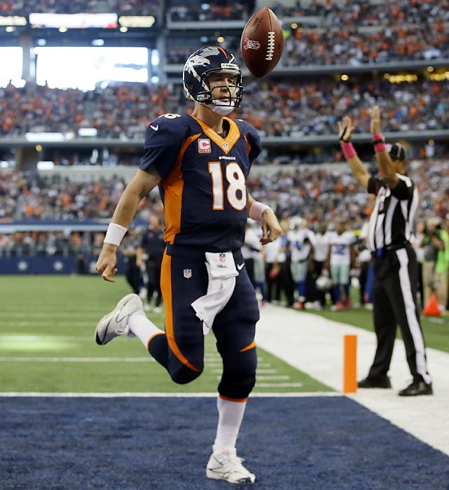 More than a few observers were caught by surprise at the sight of Peyton Manning running in a touchdown, because the last time he had done so was five long years ago. Manning got to keep his touchdown and a victory, too, as Denver held on to defeat Dallas 51-48.