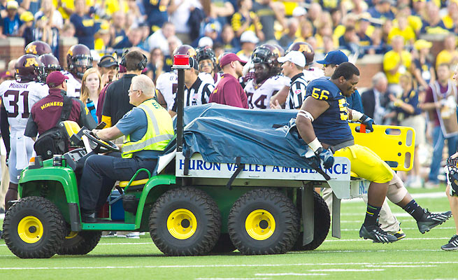The worst was confirmed Monday after Ondre Pipkins left Michigan's win Saturday on a cart.