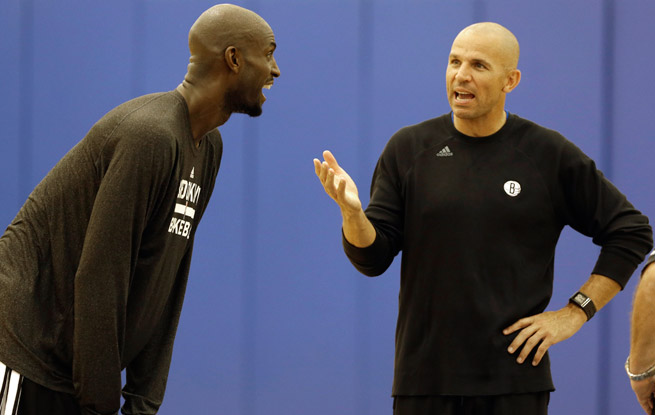 Jason Kidd of the Brooklyn Nets is one of a record nine first-year head coaches to start an NBA season.
