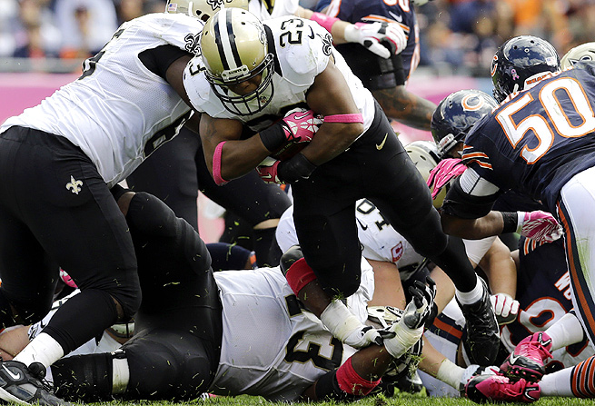 Pierre Thomas grabbed two receiving touchdowns against the Bears, but that likely won't be a regular occurrence.
