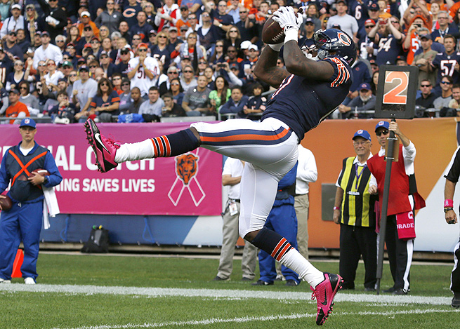 In the last two weeks, Bears wide receiver Alshon Jeffery has averaged over 21 yards per catch.