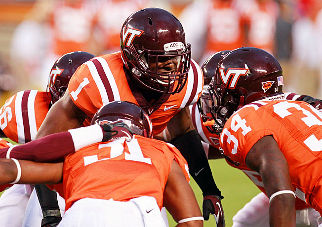 Despite missing time, Antone Exum (1) has served as a leader for many of the Hokies' defensive backs.