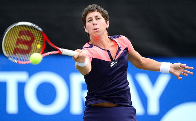 Carla Suarez Navarro topped Elina Svitolina 6-1, 6-4 and will face Kirsten Flipkens next.