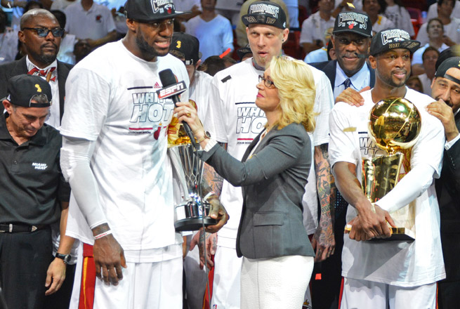 Doris Burke will continue to be an occasional sideline reporter in addition to her studio responsibilities.