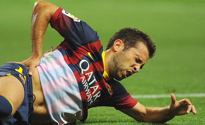 The still new season has been injury-plagued for Jordi Alba, who now faces his second muscle injury.