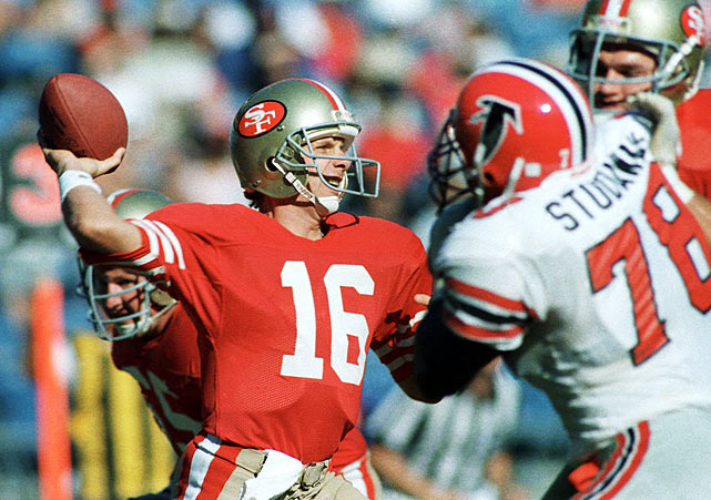 "NFL players might have been in the midst of a strike, but Joe Montana crossed the picket line, and Vegas set this line as a mismatch. Montana and 11 strikebreaking veterans -- including Dwight Clark, Roger Craig and Joe Cribbs -- returned to the 49ers' lineup in Week 4. They were heavy favorites against the replacement Falcons, who had just one regular on the roster: linebacker Tim Green. San Francisco stormed to a 20-0 halftime lead, outgaining the Falcons 261-56. The 49ers won 25-17. ""I think it was evident that they needed their veterans to win it,"" Atlanta coach Marion Campbell told the AP after the game. ""Our replacement guys, I thought, played well against theirs, and could have won it if that would have been the case."""
