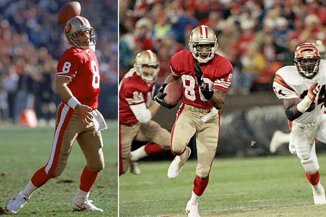 Led by quarterback Steve Young, the 49ers featured the league's most prolific offense. They had outscored their last five opponents 190-69. The Bengals, meanwhile, were 1-10. Quarterback David Klingler had more than twice as many interceptions (seven) as touchdowns (three). The team's best pass rusher, first-round draft pick John Copeland, was out with a knee injury. As you might imagine, fans at Candlestick Park weren't exactly cheering as the 49ers ran off the field at halftime trailing 8-7. But order was restored in the second half. The Bengals botched a fake punt early in the third quarter and Ricky Watters ran for two touchdowns en route to a 21-8 San Francisco victory.