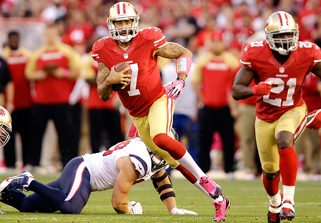 Even with Colin Kaepernick still trying to find his groove, the 49ers should easily handle the Cardinals.