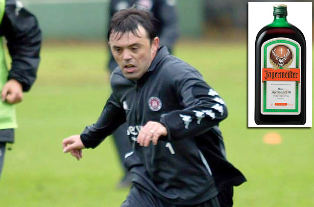Josip (Jozo) Ga?par was fired as the coach of Croatian soccer team NK Precko Zagreb after he allegedly stole a credit card from one of his own players and used it to buy 36 bottles of Jägermeister.