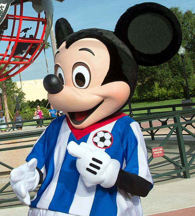 The grandfather of a player was punched in the chest -- causing his pacemaker to temporarily stop -- during a brawl among players and fans at a youth soccer tournament at Disney World.