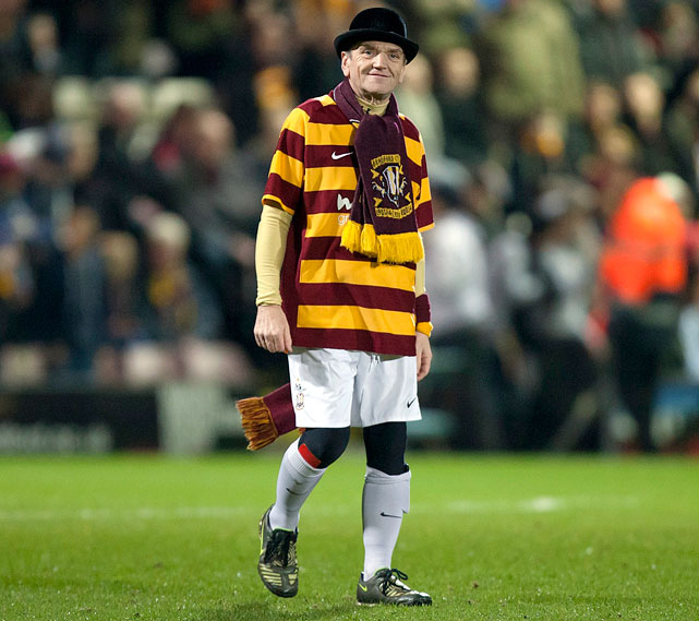 English soccer team Bradford City fired its mascot, the City Gent (59-year-old diabetic Lenny Barry), because he lost too much weight.