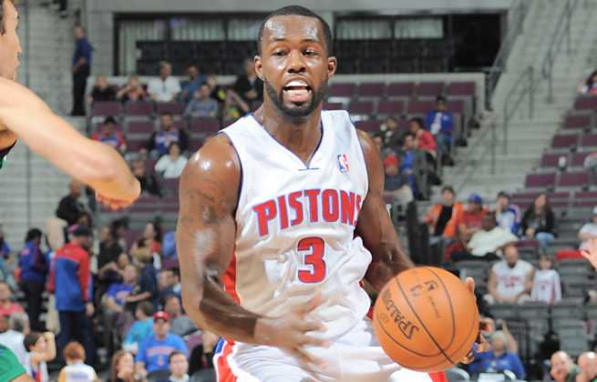 Rodney Stuckey will have his thumb in a cast for two weeks after breaking it in a car door.