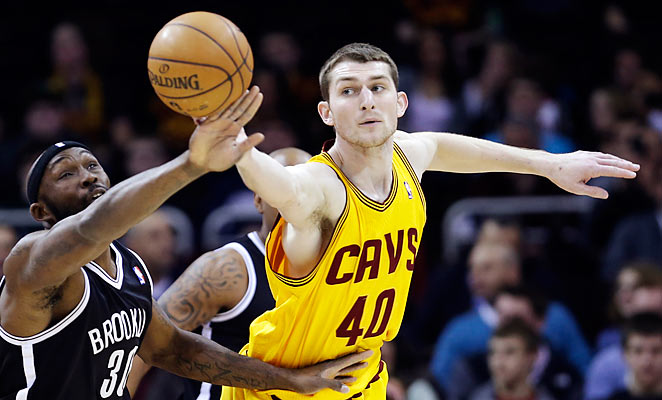 Tyler Zeller averaged just under eight points and six rebounds per game in his rookie season with the Cavs.