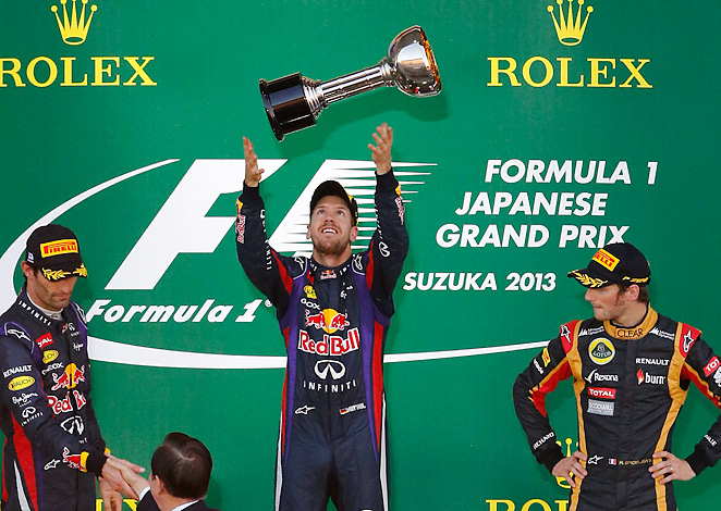 Sebastian Vettel's win in Japan is his fifth-straight victory on the F1 circuit.
