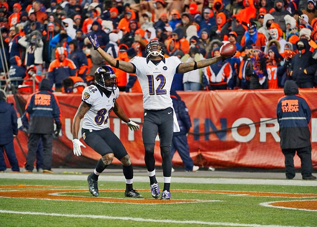 Trailing 35-28, with 30 seconds left, no timeouts and facing third-and-three on their own 30-yard-line, things weren't looking too good for the Ravens in the 2012 AFC Divisional playoffs. That's when Joe Flacco connected on a 70-yard Hail Mary to Jacoby Jones to force the game into overtime, where Baltimore would eventually win. The throw saved the Ravens' season and enabled their Super Bowl run.