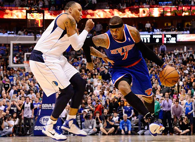 Carmelo Anthony was third in the MVP voting last season, when he averaged an NBA-high 28.7 points.