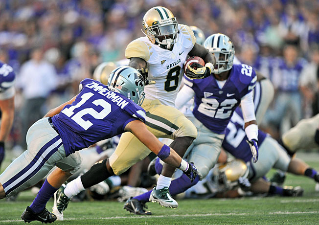 Glasco Martin (8) and Baylor pulled away from Kansas State in the fourth quarter of last week's game.