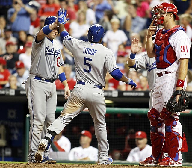 Clayton Kershaw's eighth-inning, no-run, eight-strikeout gem capped off the Los Angeles Dodgers' historic 42-8 stretch. With the win, L.A. rolled off the best 50-game streak major league baseball had seen since 1942. The Dodgers were led in part by rookie phenom Yasiel Puig, who hit .319/.391/.534 with 19 homers in his electric rookie season. And the rotation, led by Cy Young front-runner Kershaw and prized free agent Zack Greinke, posted a 2.54 ERA over that 50-game stretch -- not too shabby.