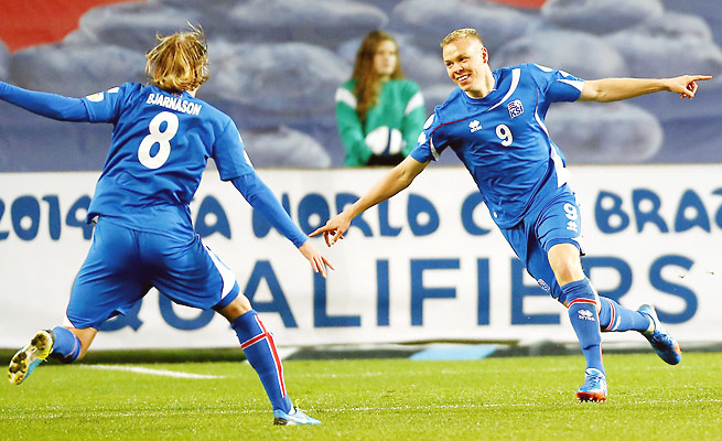 Iceland will hope to become the smallest country to make a World Cup in its UEFA playoff matchup.