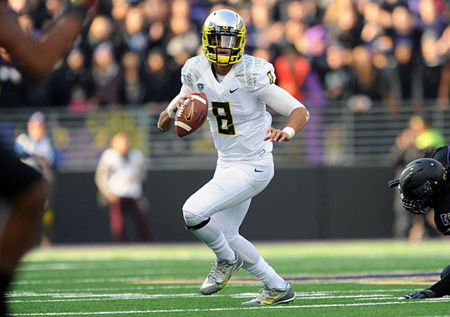 Quarterback Marcus Mariota has accounted for 25 touchdowns without a turnover in Oregon's 6-0 start.