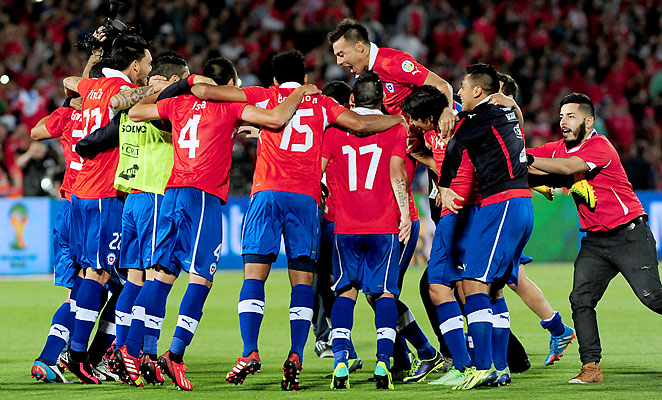 Chile celebrated their second consecutive World Cup appearance with a victory over Ecuador on Tuesday.
