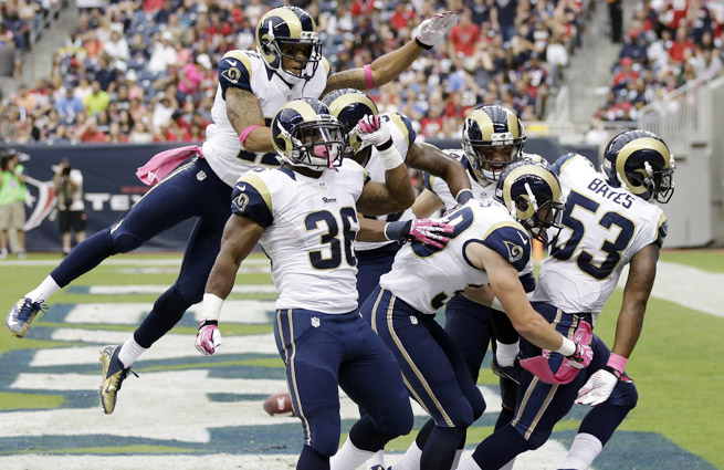 The Rams' 25-point win over the Texans was their largest margin of victory on the road since 2001.