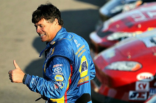 Reason to smile? Michael Waltrip Racing will lose a driver and about a third of its income.