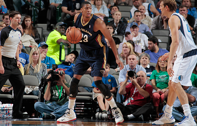 No. 1 overall pick Anthony Davis averaged 13.5 points and 8.2 rebounds for New Orleans as a rookie.