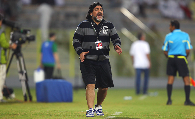 Diego Maradona has not managed since coaching Dubai's Al Wasl for one season in 2011-12.