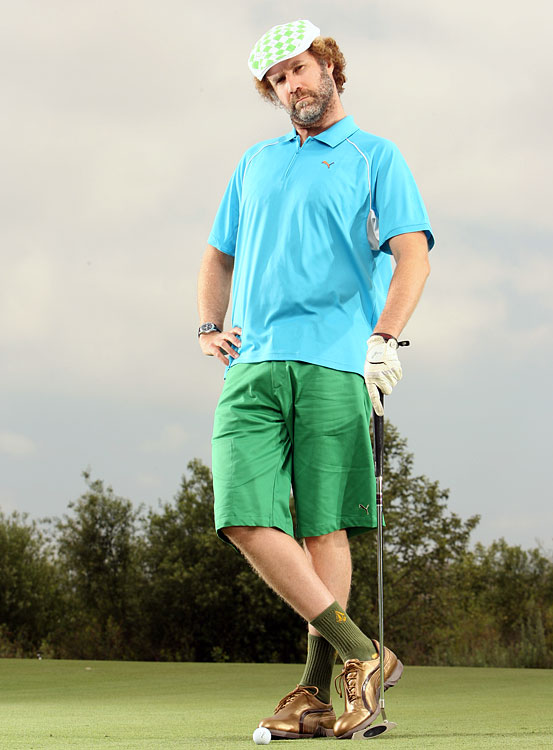 Will Ferrell poses during a GOLF Magazine shoot on May 29, 2008 at Arroyo Trabuco Golf Club in Mission Viejo, Calif.