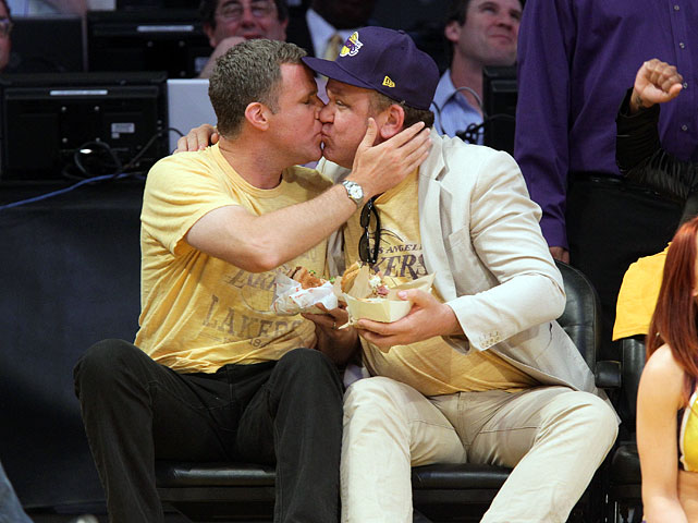"""Kiss Cam"" during Lakers vs. Mavericks at Staples Center in Los Angeles."