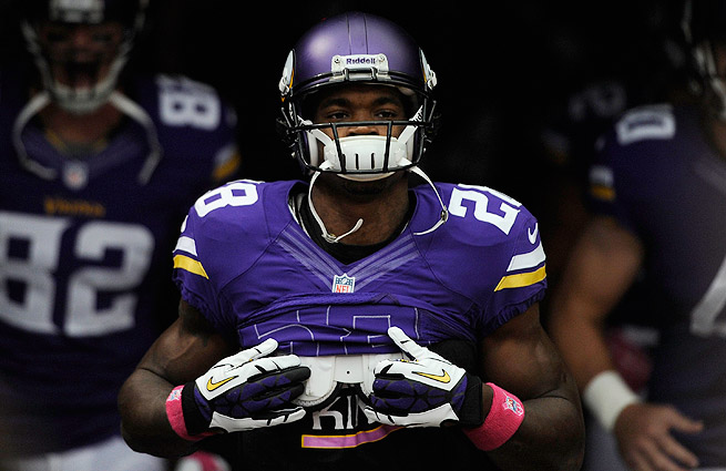 Adrian Peterson rejoined the Vikings on Thursday, describing his son's funeral as 'devastating.'