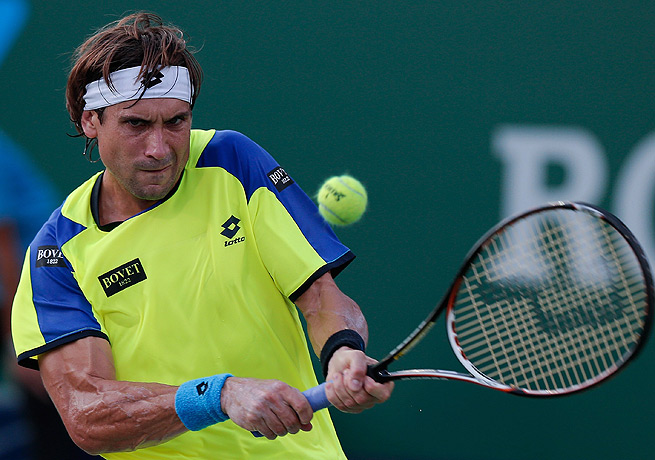 David Ferrer, seen here last week in Shanghai, went the distance to defeat American Jack Sock in Stockholm.