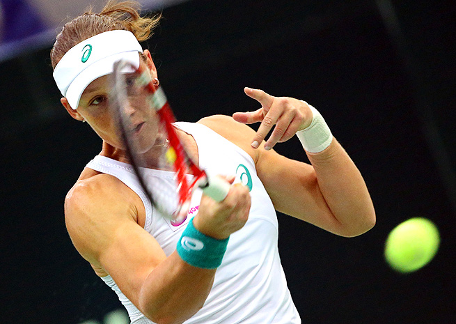 After winning the Japan Open title, Sam Stosur has continued to blow through opponents in Moscow.
