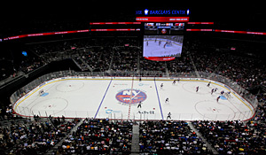 The Isles' sparkling new home, the Barclays Center, awaits for 2015, a sign of better times.