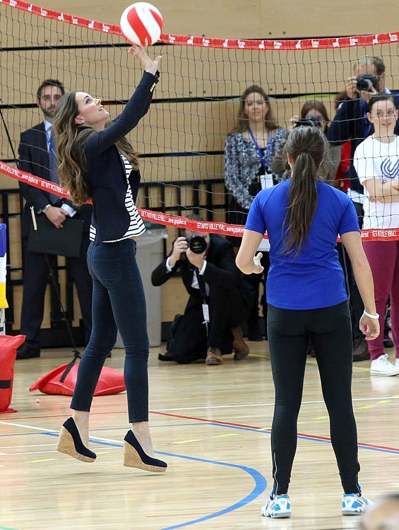 On Oct. 18, the Duchess of Cambridge played volleyball in five-inch platform heels at a Sportaid athlete workshop in London for her first solo royal outing since giving birth to her son, Prince George, in July. SI.com takes a look back at the Royal Family and sports through the years.